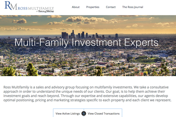 Ross Multifamily Real Estate Site